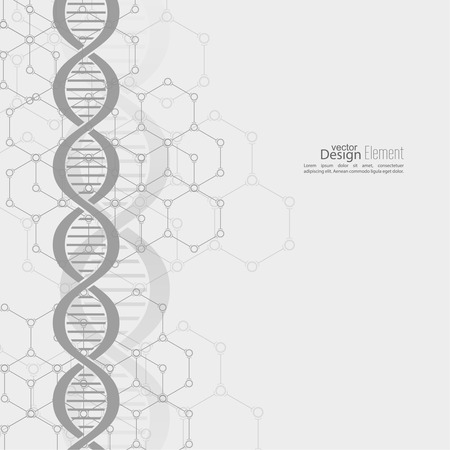 dna strand: Abstract background with DNA  strand molecule structure. genetic and chemical compounds