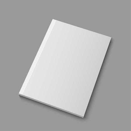 marca libros: Cargador vac�o en blanco o una plantilla de libro acostado en un fondo gris. vector