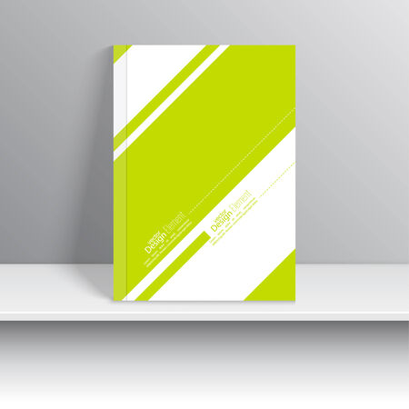 notebook cover: Magazine Cover green with diagonal lines and dots. Modern flat design. Booklet, postcard, business card, annual report, cover. vector illustration. abstract background