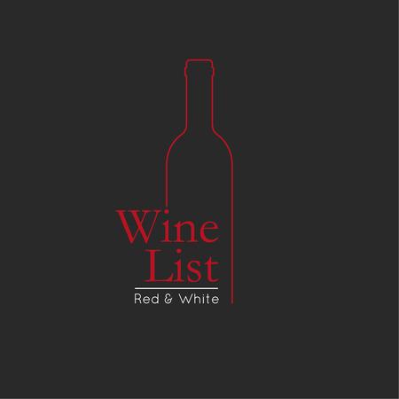 Wijnkaart Menukaart ontwerpsjabloon. wijn badge en label. wijnfles glas ontwerp menu achtergrond.