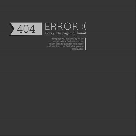 죄송합니다. 404 오류. 죄송합니다, 페이지를 찾을 수 없습니다. 벡터. 기술적 오작동 및 제거 웹 리소스와 웹 페이지, 모바일 애플리케이션을위한. 회색