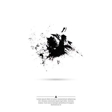 ink splatter: Ink splatter with small drops of black. Grunge vector hand drawn background. vector. ink blot
