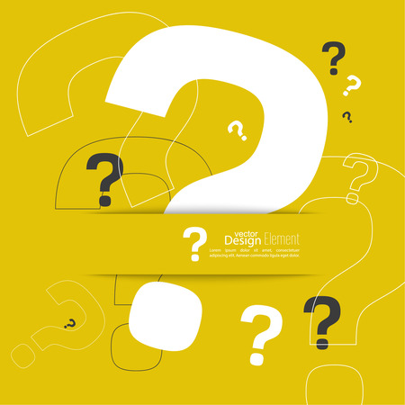 Pictogram met een vraagteken. Help symbool. FAQ teken op een gele achtergrond. hipster Patroon. vector