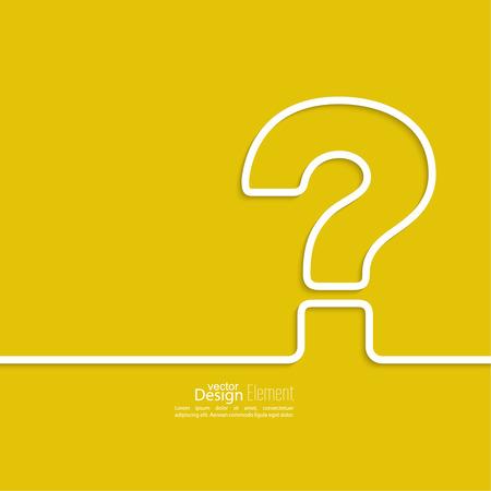 Pictogram met een vraagteken. Help symbool. FAQ teken op een gele achtergrond. vector Vector Illustratie