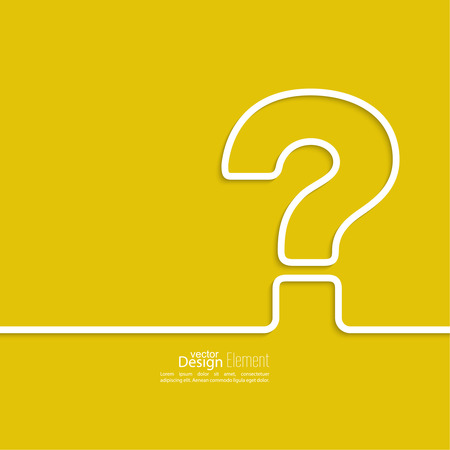 Question mark icon. Help symbol. FAQ sign on a yellow background. vector Vector