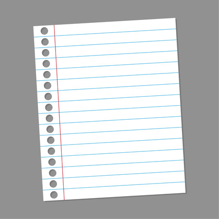 paper note: Blank paper note for records. to do list. Memory sticky note. vector