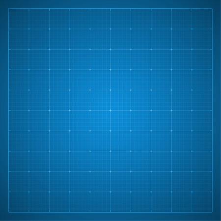 用紙の青写真の背景。建築、エンジニア リング設計作業のための画用紙。ベクトル