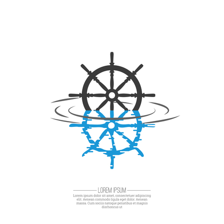 Business Abstract wheel ship  icon. Corporate, Media, transportation, delivery, Technology styles vector logo design template.  Vector