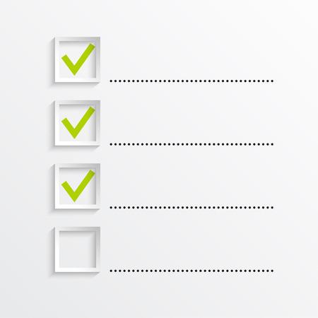 prioridades: Notebook con lista de tareas. Las l�neas con casillas de verificaci�n. lista de verificaci�n para la nota. consentimiento. marca de verificaci�n. elecci�n y votaci�n Vectores