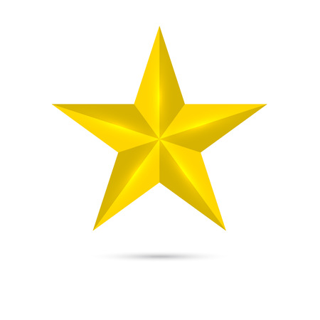 Golden shiny, glossy star. Symbol awards, winning, encourage. mark the best. rank Stock Vector - 31836805