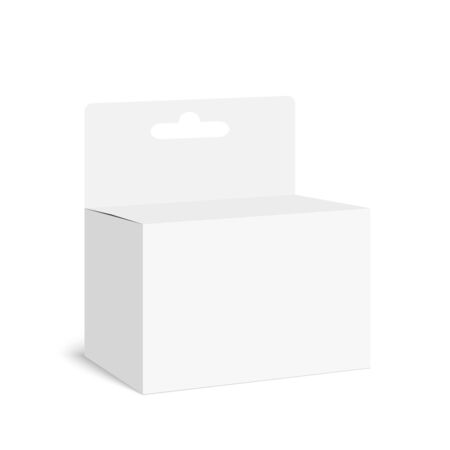 corrugated box: Package white box on a white background.