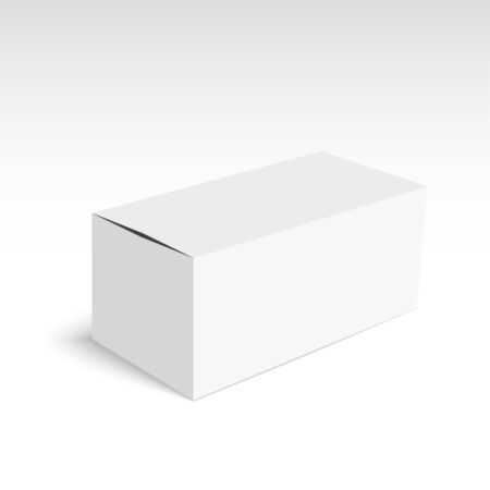 shipped: Package white box on a white background.