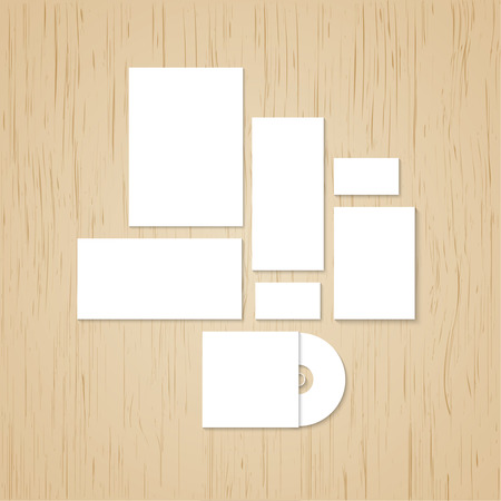 Template for branding and identity.  Vector