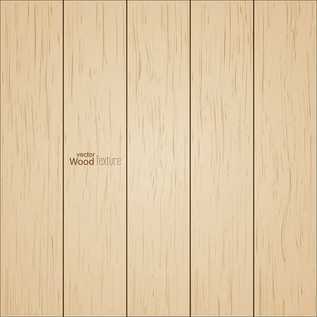 Background of wooden boards, striped fiber textured.  Vector