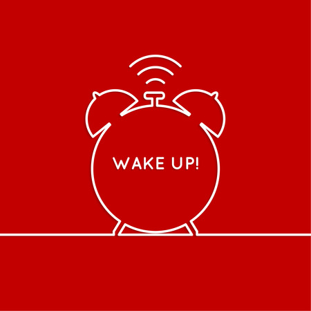 early morning: Background with alarm clock. The concept of early awakening. morning  wake up and deadline. vector