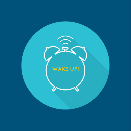early morning: Background with alarm clock. The concept of early awakening. morning  wake up and deadline. vector icon with a long shadow. flat design Illustration