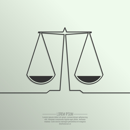 justice legal: Abstract background with a symbol of balance and justice of the ribbon. Scales. Compare.