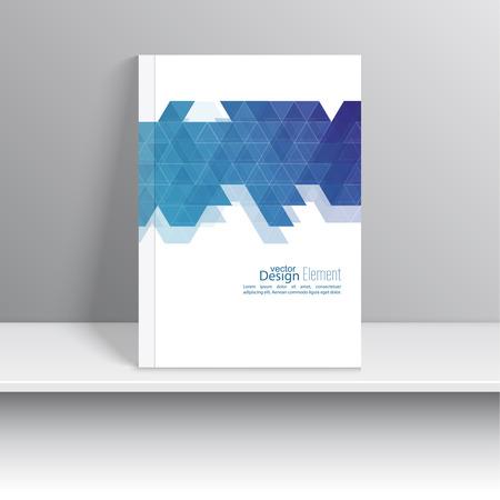 marca libros: La portada de revista con el patrón, triángulo inconformista. Diseño plano Moderno. Folletos, tarjetas postales, tarjetas de visita, el informe anual, la cubierta. ilustración vectorial. resumen de antecedentes Vectores