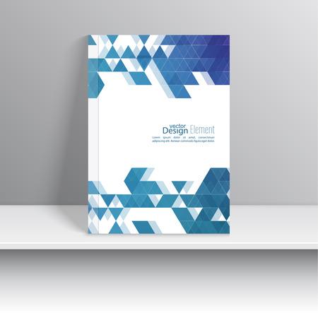 page couverture: Couverture de magazine avec motif, hippie triangle. Design plat moderne. Livret, carte postale, carte de visite, rapport annuel, la couverture. illustration vectorielle. abstrait