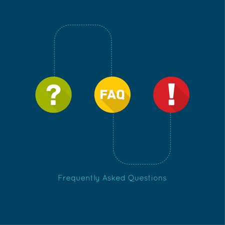 Exclamation mark icon. Attention sign icon. Question mark icon with long shadow. Help symbol. FAQ sign on a green background. vector. concept question answer. for mobile apps Vector