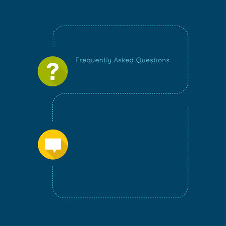 Question mark icon with long shadow. Help symbol. FAQ sign on a blue background. vector concept question answer. for mobile apps