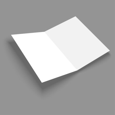 Blank empty magazine or book or booklet, brochure template  on a gray background. vector Vector