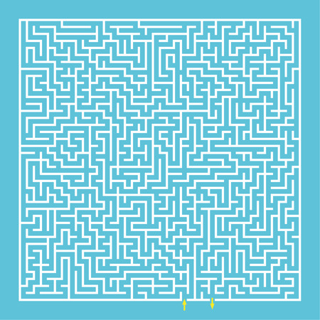 maze puzzle: Maze, labyrinth. Tangled mystery. challenge the thinking puzzle. vector