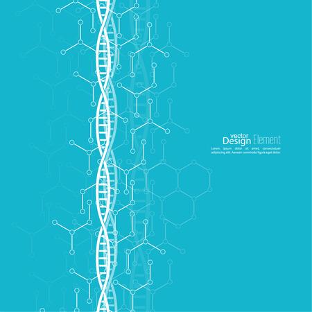 Zusammenfassung Hintergrund mit DNA-Strang Molekülstruktur. genetische und chemische Verbindungen Standard-Bild - 33141580