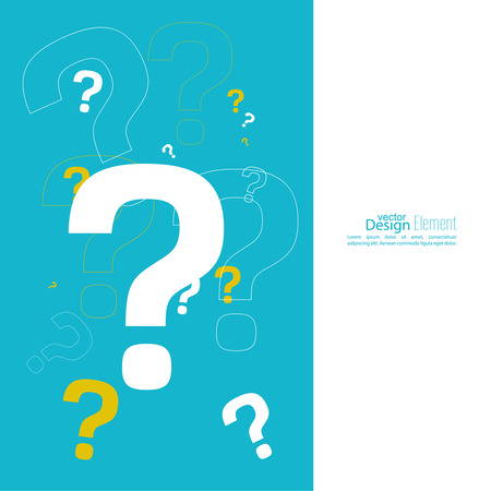 Question mark icon. Help symbol. FAQ sign on a yellow background. vector. Cover for flyer, booklet, brochure