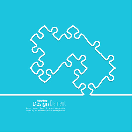 Vector abstract background from pieces of puzzle and a pattern of triangles. jigsaw.  Business concept of teamwork and making the right decisions. fix Vector