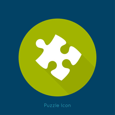 puzzle pieces: Icon puzzle piece with a long shadow. vector.jigsaw. Business concept of teamwork and making the right decisions. fix. Connect. Illustration