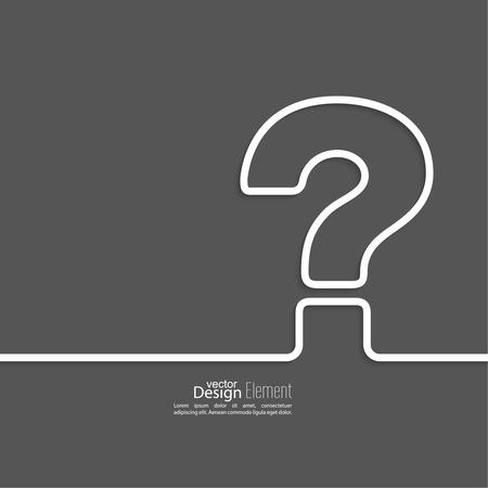 Vraagteken icoon. Help-symbool. FAQ aanmelden op een donkere achtergrond. vector