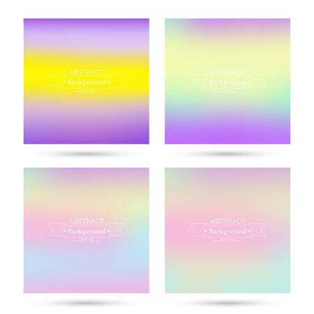 verde y morado: Conjunto de vectores de coloridos fondos abstractos borrosa. Para aplicaciones m�viles, de libro, folleto, fondo, cartel, sitios web, informes anuales. amarillo, rojo, verde, p�rpura, rosa Vectores