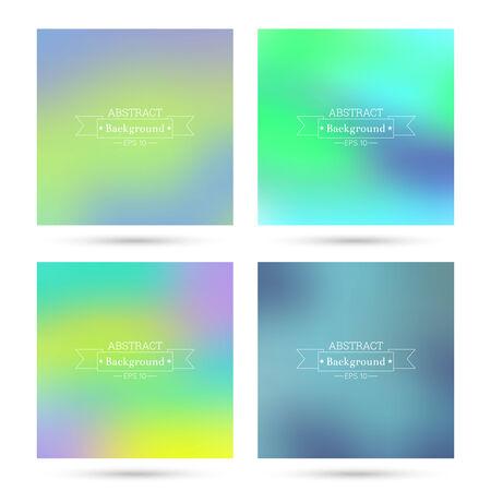 verde y morado: Conjunto de vectores de coloridos fondos abstractos borrosa. Para aplicaciones m�viles, de libro, folleto, fondo, cartel, sitios web, informes anuales. azul, amarillo, verde, p�rpura,