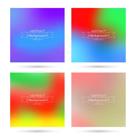 verde y morado: Conjunto de vectores de coloridos fondos abstractos borrosa. Para aplicaciones m�viles, de libro, folleto, fondo, cartel, sitios web, informes anuales. azul, amarillo, rojo, verde, p�rpura, rosa Vectores
