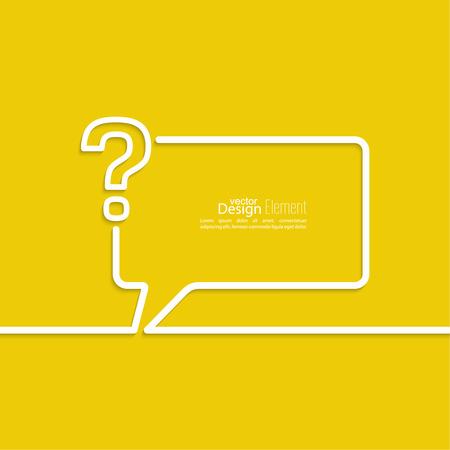 疑問符アイコン。シンボルをヘルプします。よくあるご質問は、黄色の背景にサインオンします。ベクトル。吹き出しとチャットのシンボル。