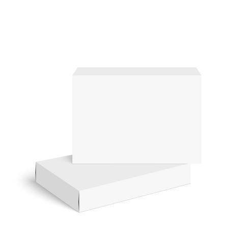 medicine box: Package white box on a white background. vector