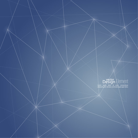 Abstrait virtuel avec particules, la structure molécule. composés génétiques et chimiques. vecteur créatif. Espace et constellations. La science et la notion de connexion. Réseau social. Banque d'images - 33467482