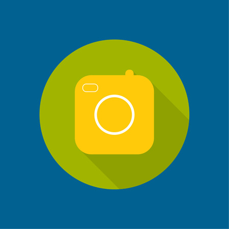 Icon of the old camera for mobile app.  Vector
