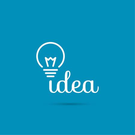Bulb light idea. flat design. concept  of ideas inspiration innovation, invention, effective thinking Vector