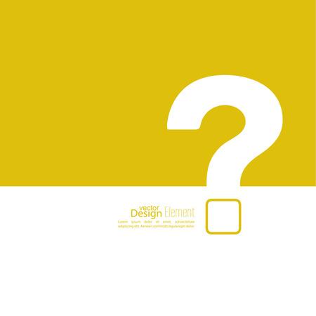 Pictogram met een vraagteken. Help symbool. FAQ teken op een gele achtergrond. vector Stock Illustratie
