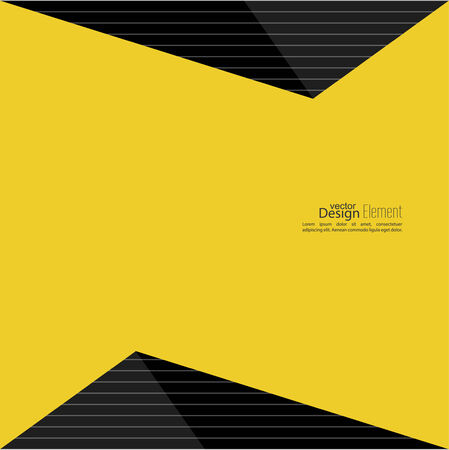 black and yellow: Abstract background with glossy black triangles. For cover book, brochure, flyer, poster, magazine, booklet, leaflet,  cd cover design,  mobile app, annual report template. black, yellow