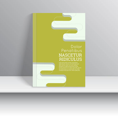 Magazine Cover with stripes and smooth lines with dots. For book, brochure, flyer, poster, booklet, leaflet, cd cover design, postcard, business card, annual report. vector illustration. abstract background Vector