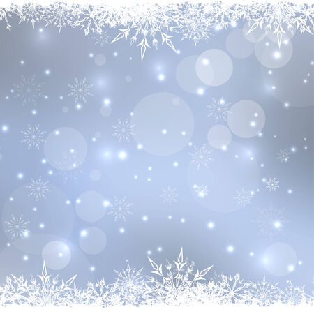 snowflake border: Abstract Winter Background with beautiful various snowflakes and stars
