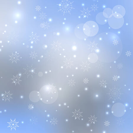 흰 서리: Abstract Winter Background with beautiful various snowflakes and stars