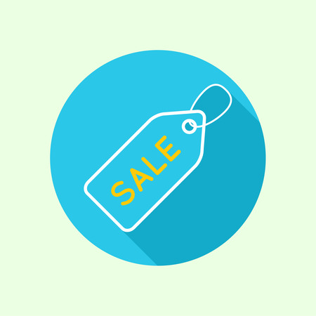 Tag and label icon. sale. flat design with a long shadow. Websites for mobile app Vector