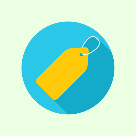 Tag and label icon. sale, discounts, specia offer,l Black Friday. flat design with a long shadow. Websites for mobile app Vector