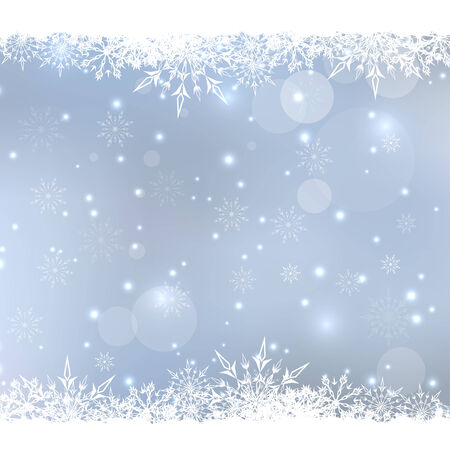 rime frost: Abstract Winter Background with beautiful various snowflakes and stars