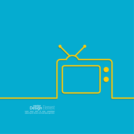 Abstract background with old TV and antenna. Browse TV shows, commercials, movies and TV series. homeliness