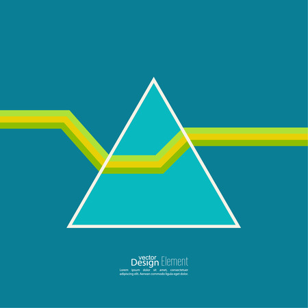 refracted: Abstract background with hipster triangles. A ray of light refracted in the prism Illustration